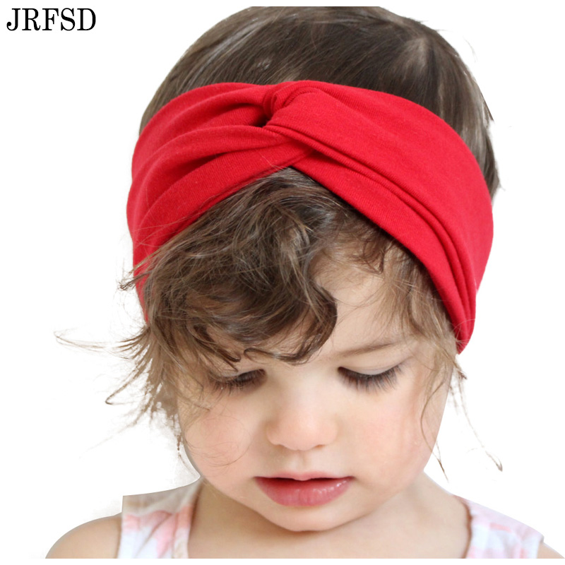 JRFSD 1 pieces Cute Headband  Knot Elasticity Hair bands Cotton Kids Hair Accessories jrfsd metal cute hair clip hairpin hairgrips flower hair headband kids hair accessories for women
