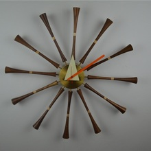 Home Decor/designer spindle wall clock-silence/quartz watch/modern fashion clock/kitchen clock/wholesale/horloge/free shipping