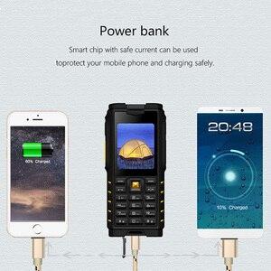 Image 5 - ioutdoor T2 IP68 Waterproof Shockproof Rugged Phone Walkie Talkie Mobile Phone Power Bank Flashlight 4500mAh Russian Keyboard