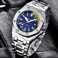 New BENYAR Quartz Men's Watches Casual Fashion Waterproof Sport Watch Men Stainless Steel Wristwatch Mens reloj hombre Free gift