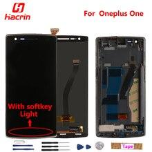 Купить онлайн Oneplus One ЖК-дисплей Дисплей + Сенсорный экран планшета Ассамблеи Замена для One plus One с функциональной клавиши подсветка