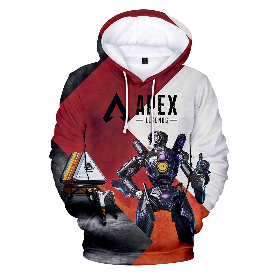 MIYECC Mens Apex Legend Hoodie 3D Printed Hooded Pullover Sweatshirt Game Top Hoodies