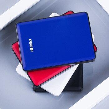 "4 Color Original PIRISI 2.5"" External Hard Drive USB3.0 HDD Portable External HD Hard Disk for PC Mac Desktop Laptop Server"
