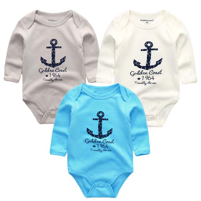 3pcs Baby Bodysuits Long Sleeve