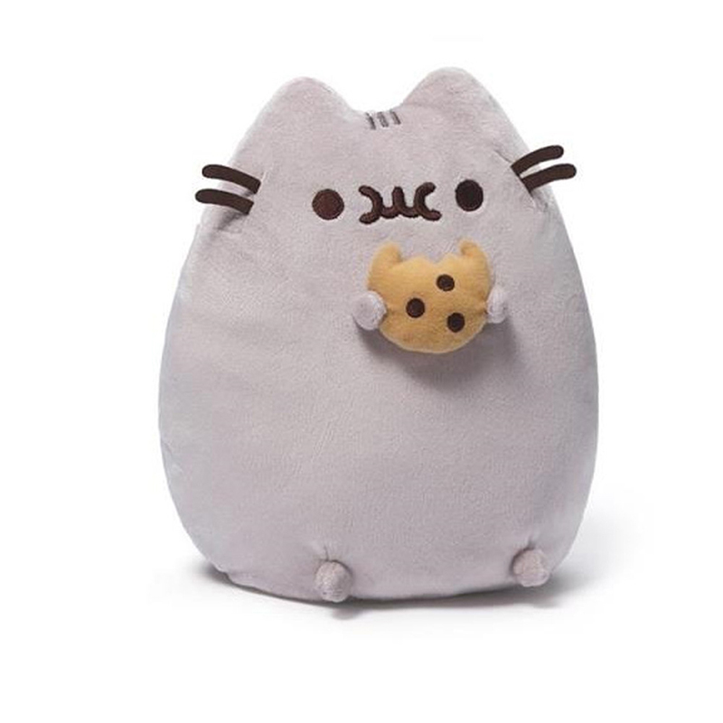 Soft Cotton Cat Plush Toys 24cm Kawaii Animals Stuffed Toy Cute Smile Cat Pillow Cushion Lovely Toys for Girls Christmas Gifts cute 45cm stuffed soft plush penguin toys stuffed animals doll soft sleep pillow cushion for gift birthady party gift baby toy
