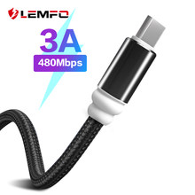 LEMFO USB Type C Cable for xiaomi redmi note 7 USB-C Mobile Phone 3A Fast Charging Type-C Cable for Samsung Galaxy S9 S8 Plus(China)