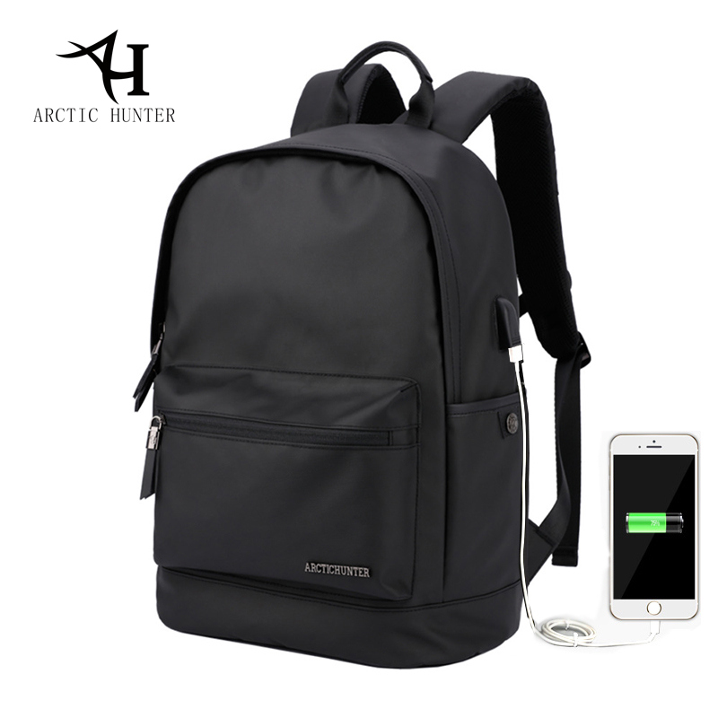 ARCTIC HUNTER New Waterproof School Backpack Bag For College Simple Design Men Casual Backpack Oxford Cloth Zipper Laptop Bag casual waterproof simple men backpack