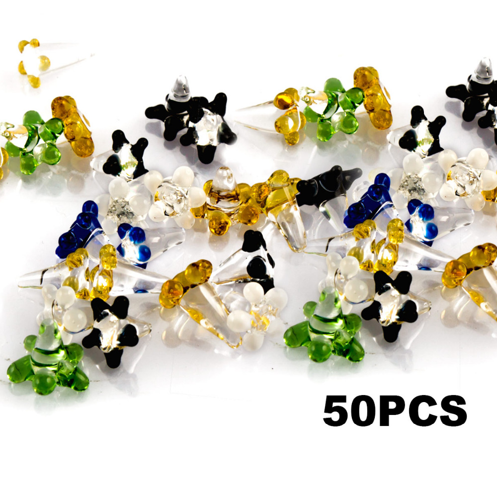 Formax420 20pcs 50pcs Daisy Style Flower Glass Screen for Pipes Assorted Colors in Tobacco Pipes Accessories from Home Garden
