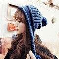 2016 Women Solid Beanie winter Keep Warm Slouch Hip-Hop Sphere Ovo Blending Knitted Wool Hat Beanie Winter Hat