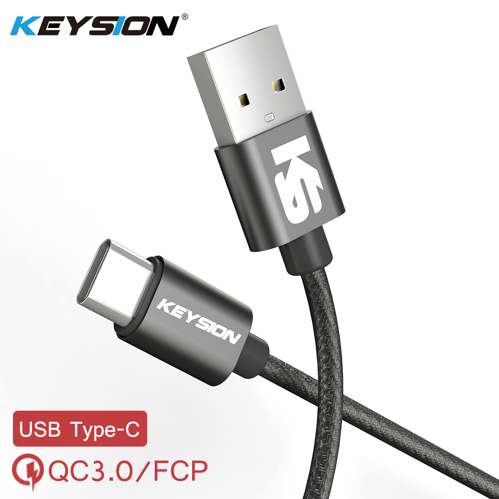 KEYSION Digital-Cable Charger Data-Sync Huawei Xiaomi Type-C USB-C For Samsung Braided