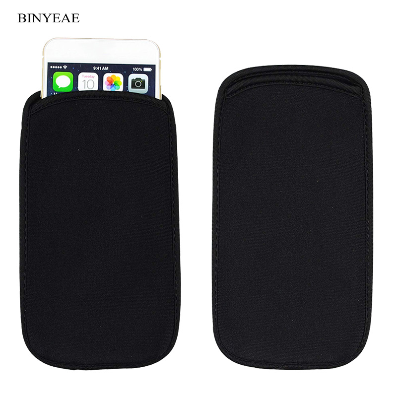 For General Mobile 4G Soft Flexible Neoprene Protective Black Pouch For General Mobile GM5 Elastic Sleeves universal bag Case image