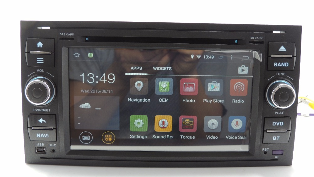 yokotron 7 tft 2 din android 4 4 car dvd radio autoradio for ford focus fieata fusion c max. Black Bedroom Furniture Sets. Home Design Ideas
