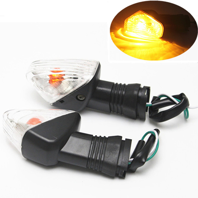 2x Motorcycle Motorbike Turn Signal Indicator Lights Amber Flasher Lamp For Kawasaki ZX6R ZX636 ZX9R ZX10R ZX12R ZZR400 ZXR400