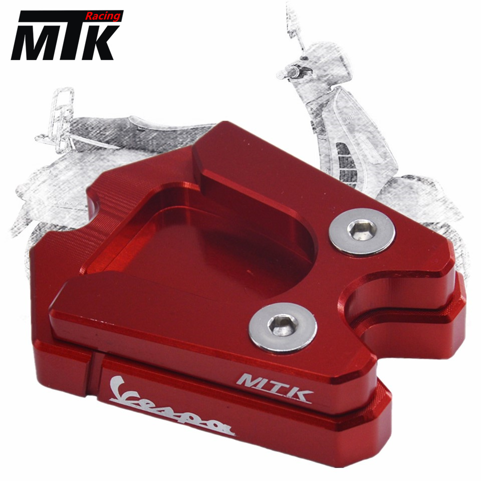 MTKRACING For Vespa GTS GTV 3Vie Motorcycle Kickstand Extension Plate Foot Side Stand Enlarge Pad river old satellite vespa 3 2 гр код цв 12
