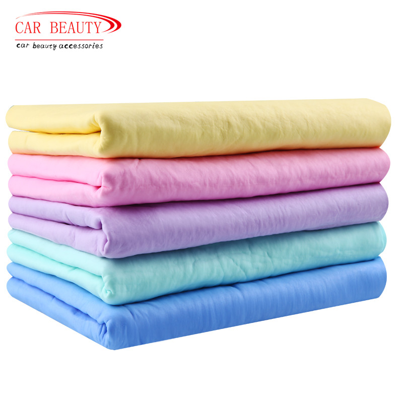 66*43*0.2CM Microfiber High Absorbent Bath Towel Cleaning Wipes Magic Hair Dry Towel Synthetic Deerskin PVA Chamois Cham