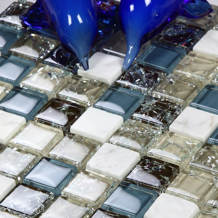 Acquista all'ingrosso online grigio mosaico piastrelle del bagno ...