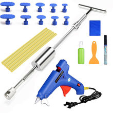 PDR Tools Car Paintless Dent Repair Removal Kits Slide Hammer T-Bar Glue Puller whdz pdr tools slide hammer with puller tabs dent removal repair tool paintless kits glue puller sets