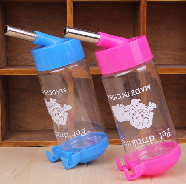 Portable Dog Cat Pet Puppy Drinker Fresh Water Bottle: Automatic Hanging Bottle Plastic Portable Dispenser Feeder