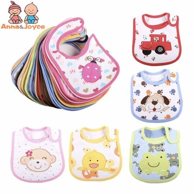 3PCS /LOT Mixed Sales Cotton Baby Bibs Waterproof Infant Bibs(send By Boys' or Girls')