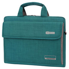 Scorching Oxford Nylon Laptop computer Deal with Shoulder Messenger PC Carry Bag Pouch Case (Malachite Inexperienced)36x27x8.5cm