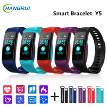 Hangrui New Y5 Smart Band Bracelet Fitness Tracker Heart Rate Blood Pressure Wristband Watch Waterproof Men Women