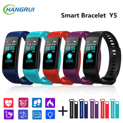 Hangrui New Y5 Smart Band Bracelet Fitness Tracker Heart Rate Tracker Blood Pressure Wristband Watch Waterproof Watch Men Women