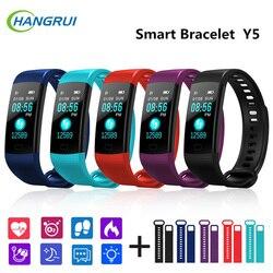 Hangrui New Y5 Smart Band Bracelet Fitness Tracker Heart Rate Tracker Blood Pressure Wristband Watch Waterproof Watch Men Women