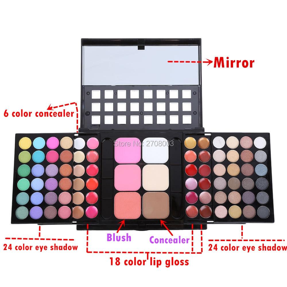 Envío gratis 78 Color Paleta de sombras de ojos Set 48 Eyeshadow + - Maquillaje - foto 2
