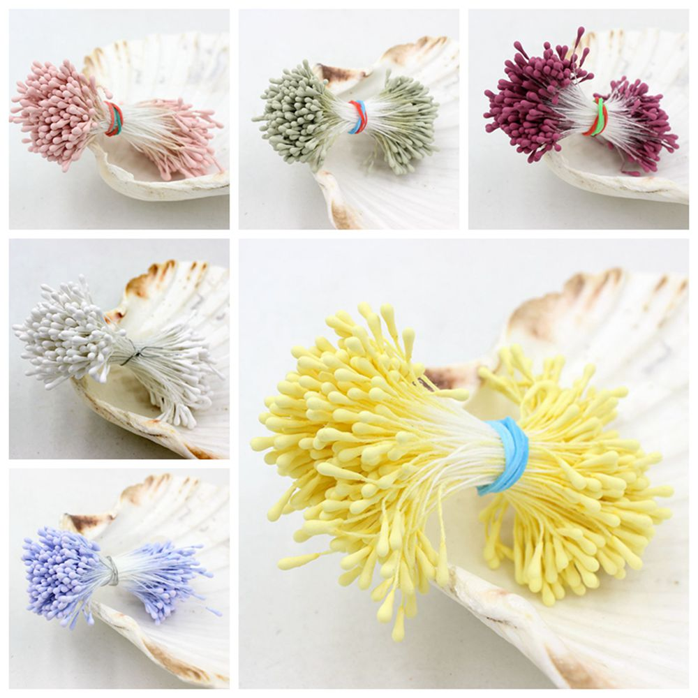 Free Shipping 420Pcs/Lot 3length 1.5mm Matte Stamen Double heads Strong Stem Flower Cake Stamens For DIY Wedding Decoration