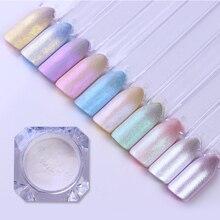 1box 1g powłoki perła paznokci brokat błyszczące lustro matowy Shimmer DIY proszek pigmentowy pył 3D zdobienie paznokci dekoracje