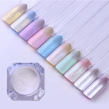 Poudre de Pigment, effet miroir, brillant, effet de perles à ongles, effet miroir, mat, brillant, à bricolage même, poussière, décoration 3D, Nail Art, 1 boîte