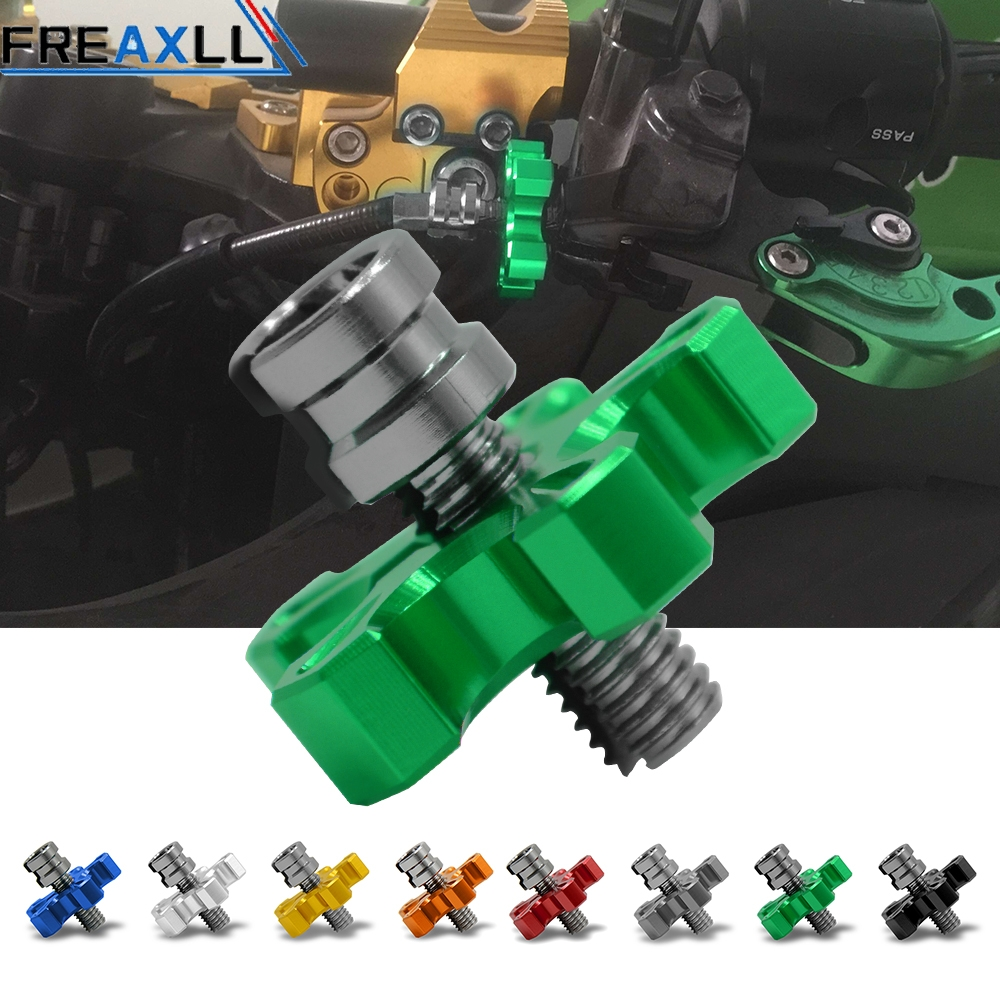 Universal Motorcycle CNC Aluminum Clutch Cable Wire Adjuster For Kawasaki Z900 Z900RS Z800 <font><b>Z1000</b></font> <font><b>2015</b></font> 2016 2017 2018 2019 image