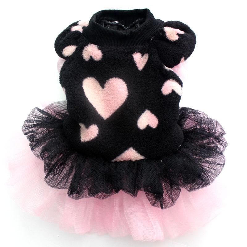 Haustier Hund Coral Samt Tutu Kleid Katze Welpen Prinzessin Rock Kleidung Blumen & Spitze Design 5 Größen