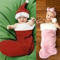 Осень Зима Новорожденный Девочки Мальчики Xmas Фотографии Носки Костюмы Набор Санта Фото Мешок Сна дети подарок