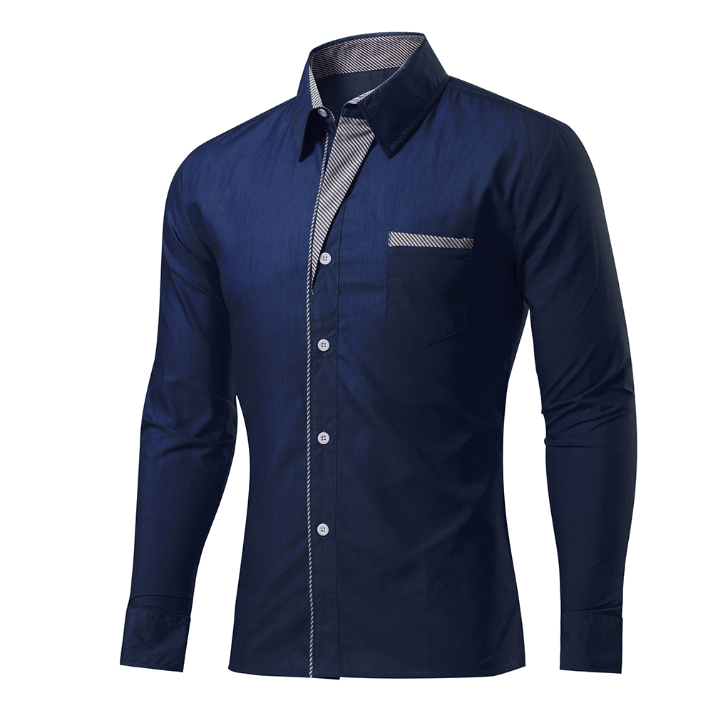 2016 fashion brand mens shirt long sleeve solid color for Top dress shirt brands