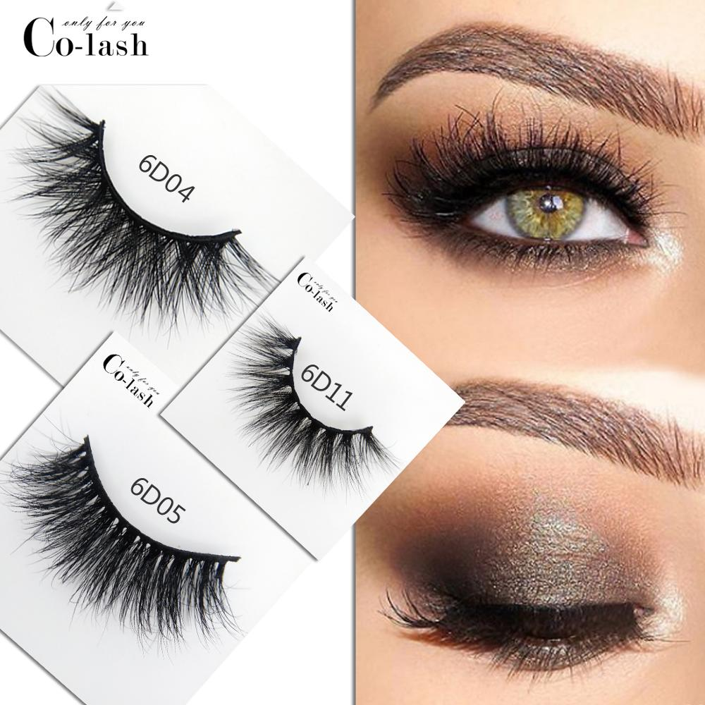 Colash eyelashes 3D mink long lasting lashes natural dramatic volume extension false