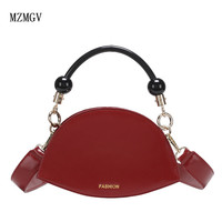 Casual girls Messenger bag luxury shoulder bag commute multicolor women's fashion PU semi circular saddle bag handbag dinner