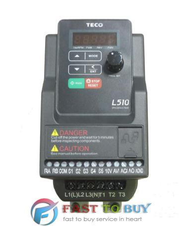 TECO 750W 3 Phase 200V~240V 50/60Hz AC Motor Drive Inverter L510 Series L510-201-SH1-NC 1HP with Keypad