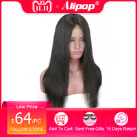 360 Lace Frontal Wig Pre Plucked With Baby Hair 150 Density Brazilian Straight Remy Lace Front Human Hair Wigs ALIPOP Lace Wig