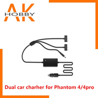 Car Charger for DJI Phantom 4 Pro Advanced Drone Battery Remote Control Charger Portable Fast Outdoor Travel Dual Car Charger