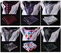 Ema verifique Polka Dot Paisley Floral sólida Houndstooth gravata de seda tecido lenço Ascot lenço conjunto