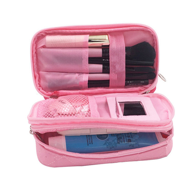Women s Mini Cosmetic Bag Travel Organizer Makeup Pouch Cases Beauty  Necessaire Brushes Lipstick Toiletry Accessories Supply 2c7929effedba