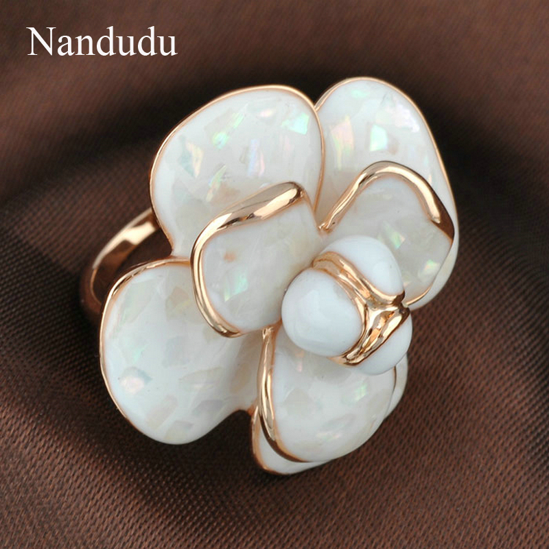 Nandudu Kualitas Tinggi Hot Sale Blooming Enamel Flower Rings Bridal - Perhiasan fashion - Foto 5