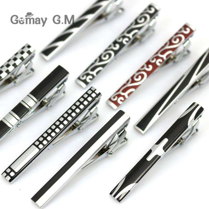 Tie Clip For Men Classic Meter Tie Clips Copper Tie Bar Quality Enamel Tie Collar Pin Crystal Business Corbata tie versace tie