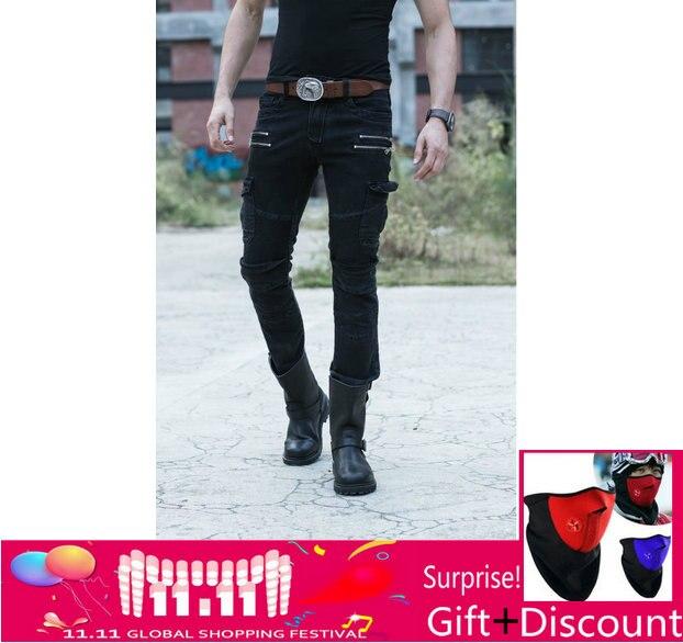 Uglybros UBP-019 Dritto Casual Jeans Protezione Del Motociclo Degli Uomini Dei Pantaloni di Pantaloni Moto Pantaloni Da Corsa con staccabile della protezione