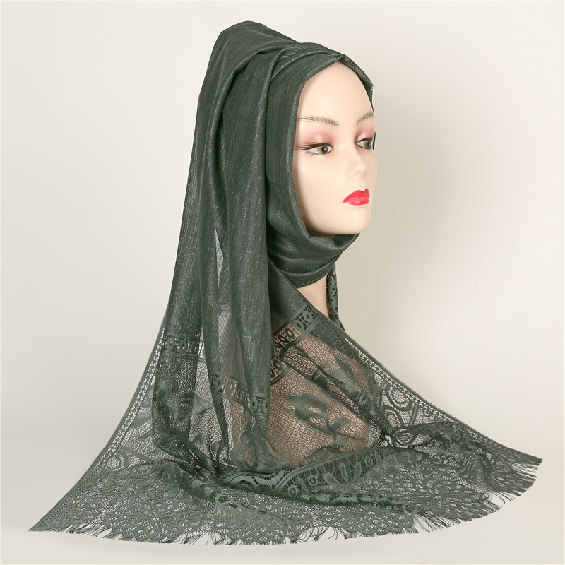 Lace hollowed out scarves for women 2019 fashion tassels shawls and wraps long winter neck scarf thin soft pashmina hijab femme