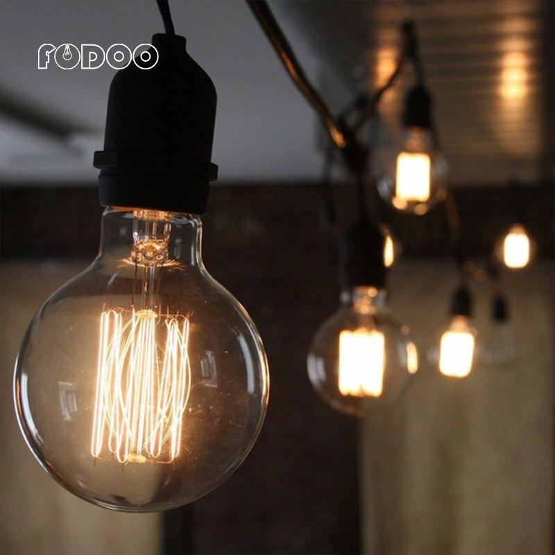 Retro Edison Light Bulb E27 ampoule vintage Incandescent Bulb 40W 220V Pendant Lamp Decoration tungsten filament lamp лампа