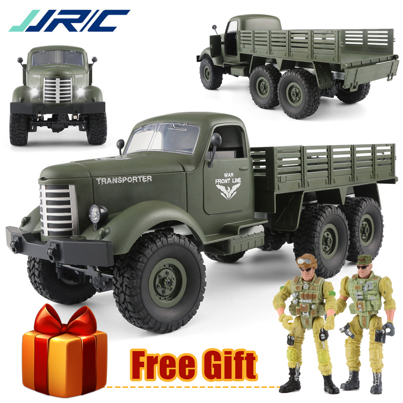 JJRC Q60 Q61 RC Car 6WD 4WD Off-Road Military Truck Speed Conversion Bright Spotlights Remote Control Climbing Car Toys For Kids willys jeep 1 10