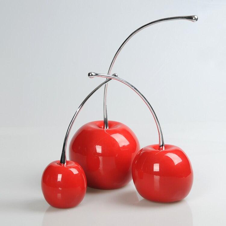 Resin Crafts Ornaments Cherry Wine Cabinet Modern Minimalist Living