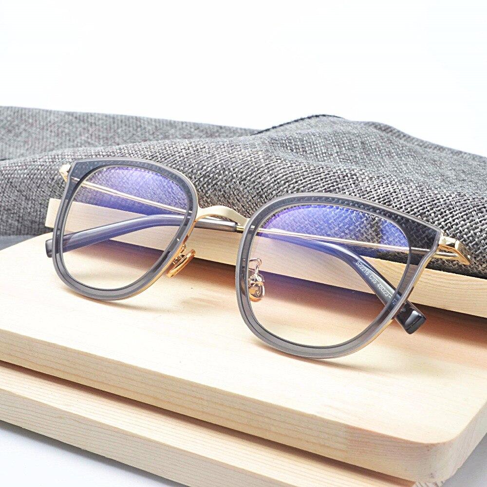 Mincl novo armações de metal retro maré feminino rosto redondo homens  espelho pode ser equipado com miopia óculos redondos plana JW em Armações  de óculos de ... 2627eef02f